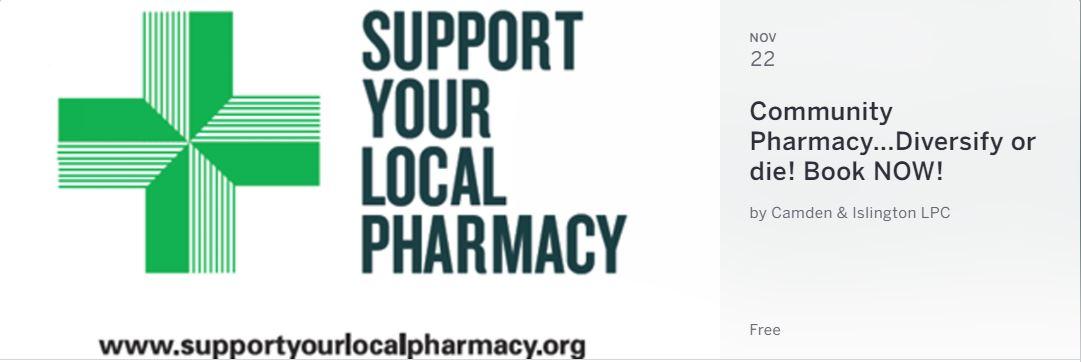 Community Pharmacy…Diversify or Die!!! – Book NOW! 22 November 17
